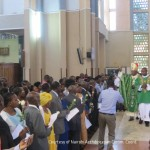Couples Receiving Blessings from Cardinal John Njue during the World Marriage Day Celebrations