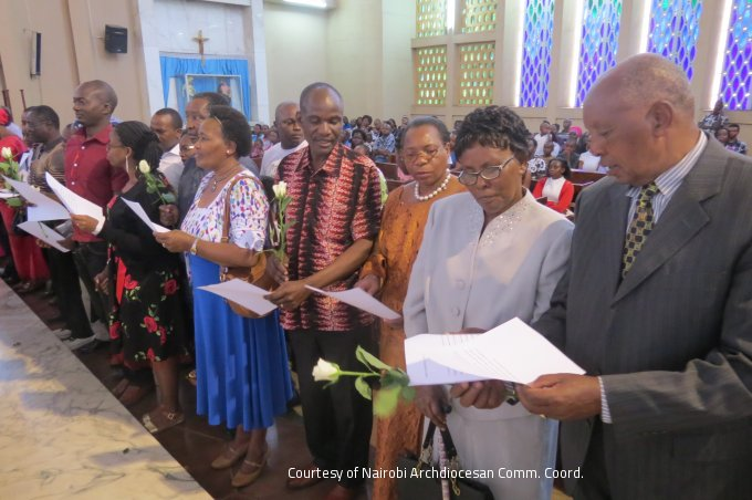 Couples Renewing their vows During the World Marriage Day Celebrations